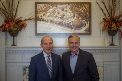 WKU President Timothy C. Caboni met with UK President Eli Capilouto on Sept. 27.