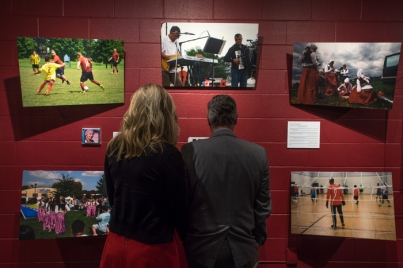 "The opening reception for ""A Culture Carried: Bosnians in Bowling Green"" was held Sept. 29."
