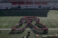 WKU sponosored human ribbons on Oct. 3 for Breast Cancer Awareness Month, Domestic Violence Awareness Month and Sexual Assault Awareness Month.