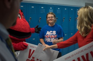 WKU Admissions presented acceptance letters Oct. 10 at Allen County-Scottsville High School.