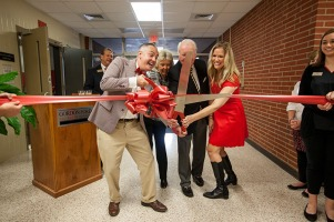 The Gordon Ford College of Business held a ribbon cutting ceremony for the Rick and Ann Guillaume Auditorium on Oct. 14.