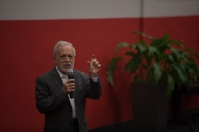 Robert Reich visited WKU on Oct. 18 for a session with students followed by a Cultural Enhancement Series presentation.