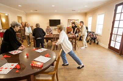 Residents of Chandler Park Assisted Living participated in Bingocize on Oct. 19.