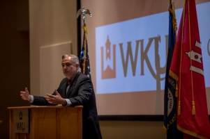 President Timothy C. Caboni spoke as part of the WKU Graduate School IMPACT Speaker Series on Nov. 2.