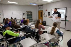 Student teachers from WKU are working in area classrooms.