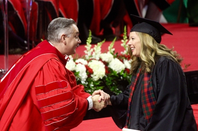 WKU Glasgow graduates at 182nd Commencement (Photo by John Roberts)