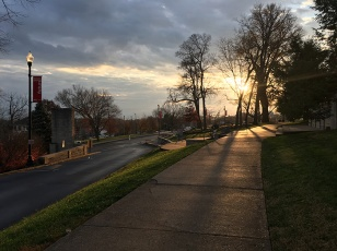 Morning scenes on the WKU campus.