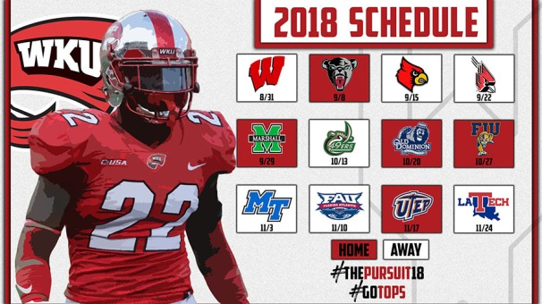 WKU Football 2018 schedule; kickoff times TBA