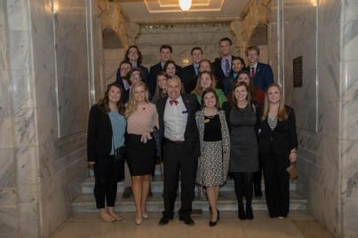 WKU President Timothy C. Caboni visited with WKU students at the Capitol on Feb. 6.
