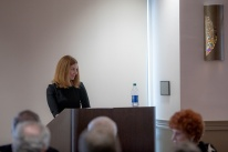 Sarah Mahurin presented a lecture on Feb. 22