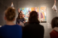 Art Professor Yvonne Petkus discussed an International Year of Bosnia and Herzegovina exhibit on March 27.