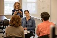 WKU students participate in a counseling class.