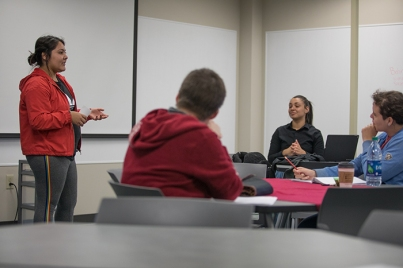 WKU students participate in a Gender & Women's Studies class.