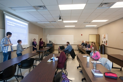 Students participate in a Counseling & Student Affairs class.