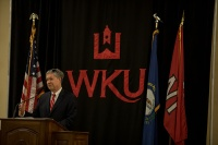 """Provost David Lee presented """"The Last Lecture"""" on April 24."""