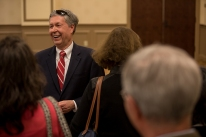 "Provost David Lee presented ""The Last Lecture"" on April 24."