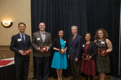 Faculty awards were presented April 26.