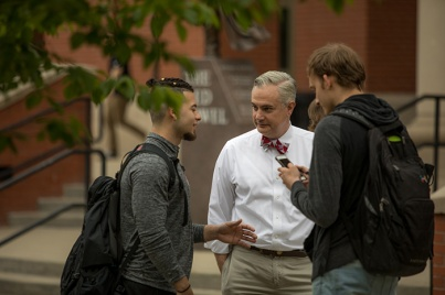President Timothy C. Caboni talked with WKU students on April 26.