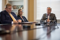 President Timothy C. Caboni and other administrators met with media on May 3.