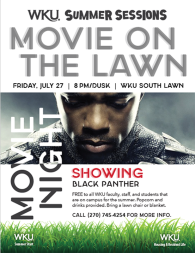 WKU Summer Sessions will present Movie on the Lawn on July 27.